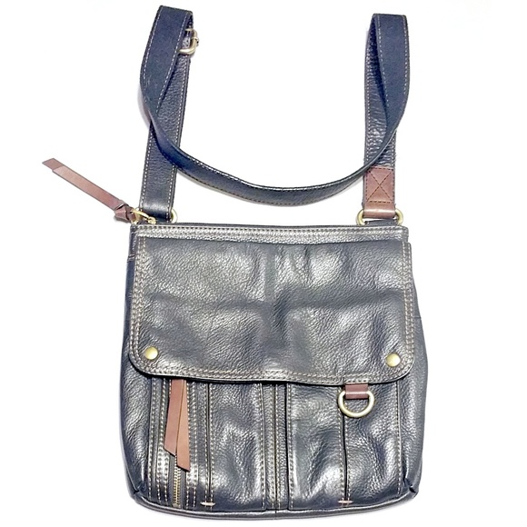 c00664da422 Fossil Handbags - Fossil Morgan Traveler Crossbody Pebbled Leather